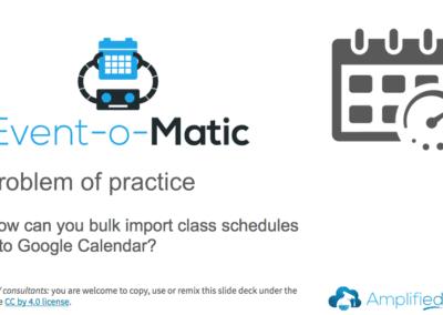 Bulk upload class schedule to Google Calendar