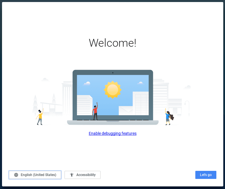 ChromeOS Version 58 Welcome Screen